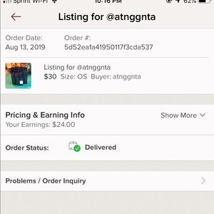 Delivery Confirmation for @atnggnta